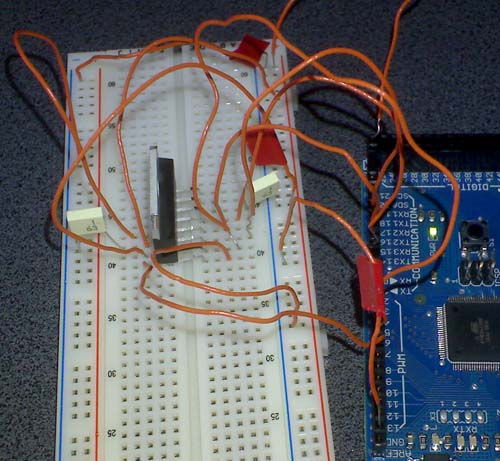 A better than nothing picture of testing the L298 on an arduino mega