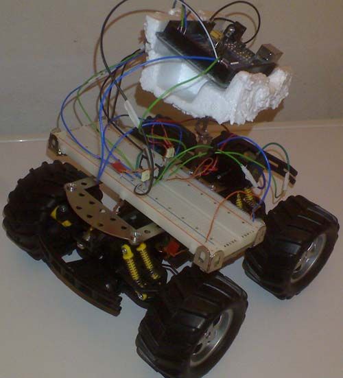 Deathbot 5000(beta) arduino and remote controlled car meet.